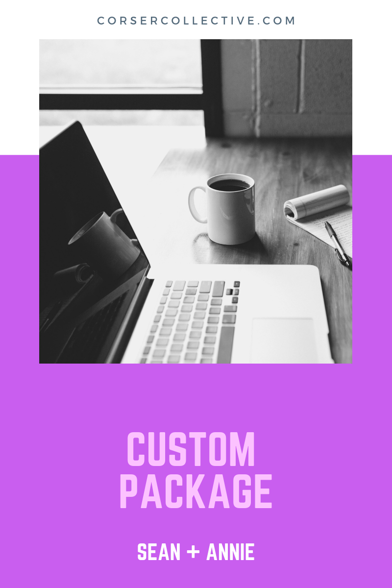 Custom Package - Need help with only one or two social media accounts? Looking to get help started with a strategy? Needing to redesign a website? Needing content to get you going? We would love to discuss a custom package that helps you meet your online business goals.