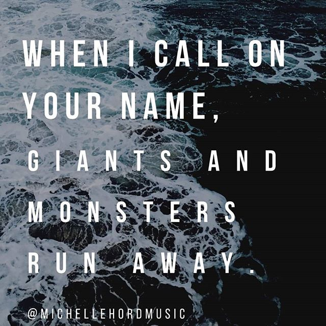 """""""When I call on Your name, giants and monsters run away."""" #fear #anxiety #depression #peace #fountaincitymusic"""
