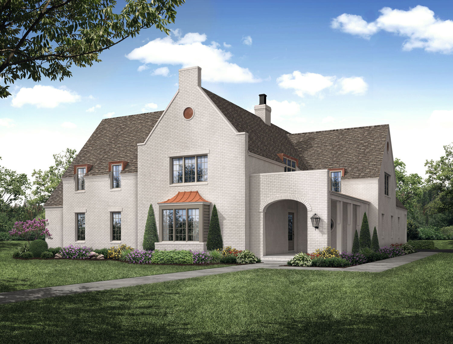 Rendering of The Longtown Company Vesta Show House; Architect: David Anderson