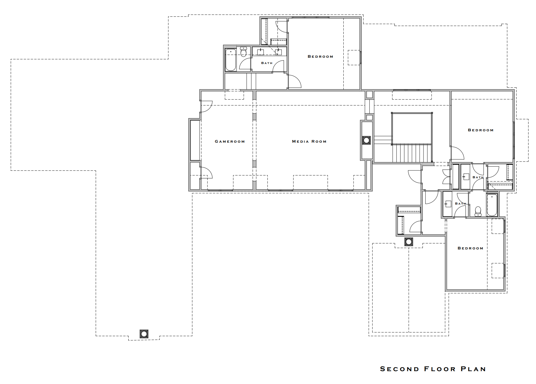 The Longtown Company Vesta Show House: 2nd Floor Plan