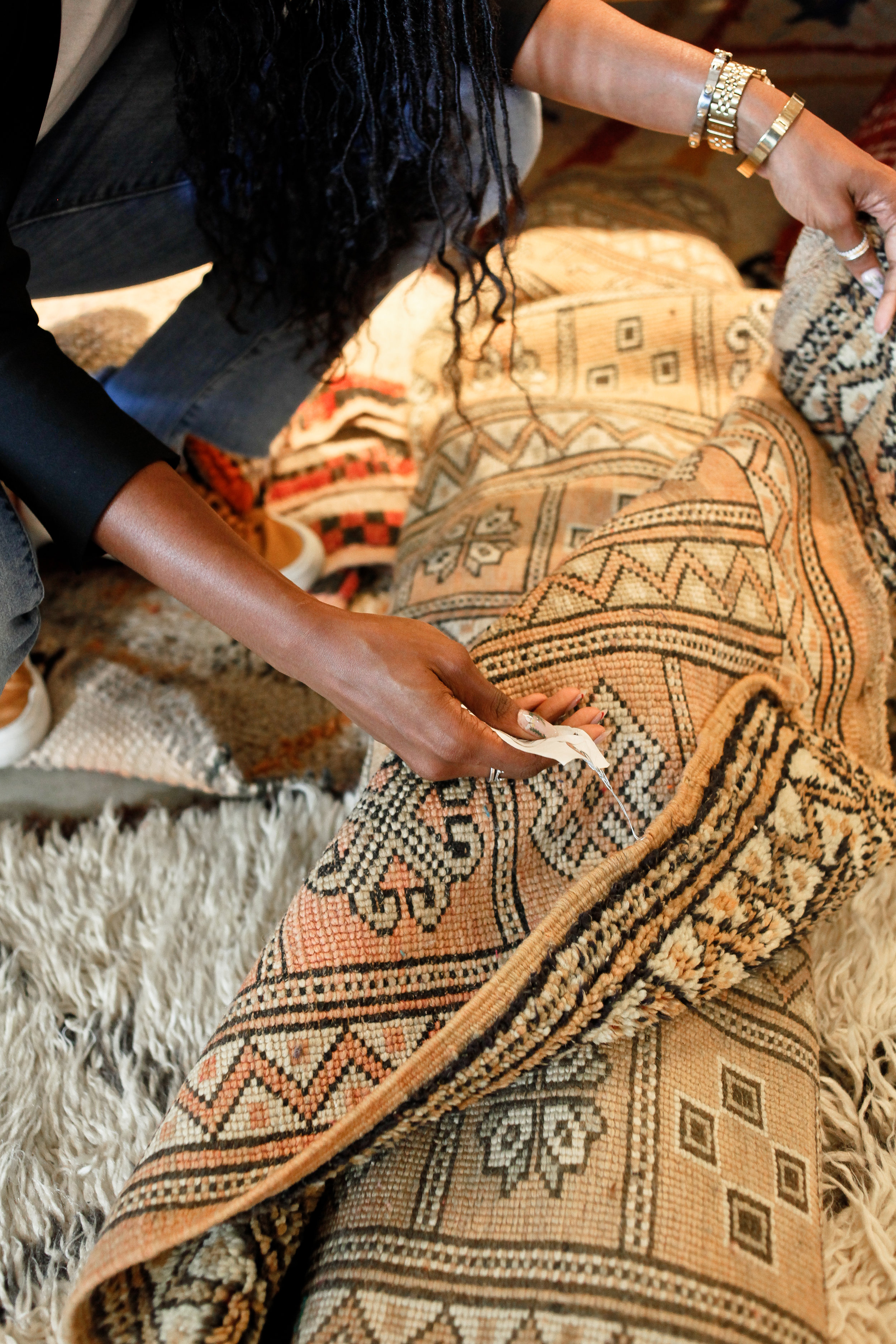 So many great one-of-a-kind rugs to choose from!