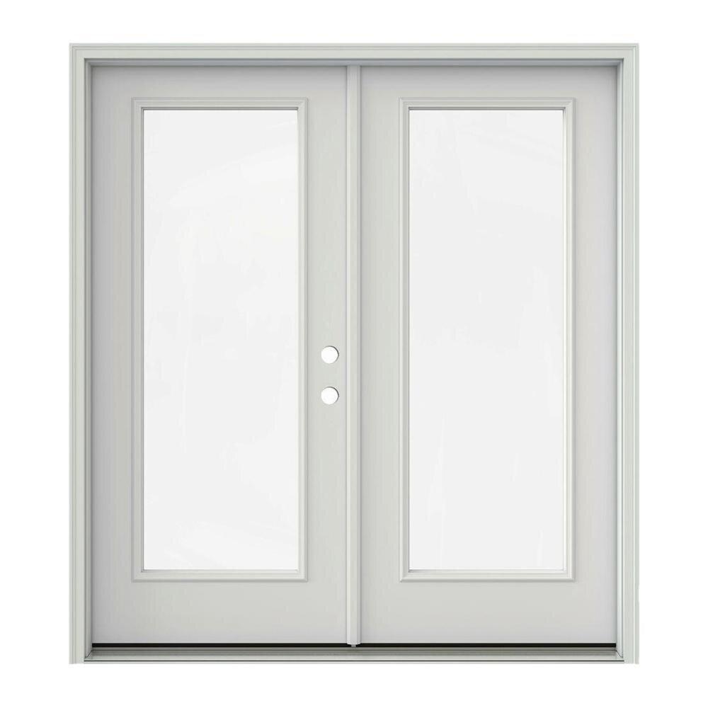 Lowe's JELD-WEN Tempered Glass Primed Fiberglass Left-Hand Inswing French Patio Doors