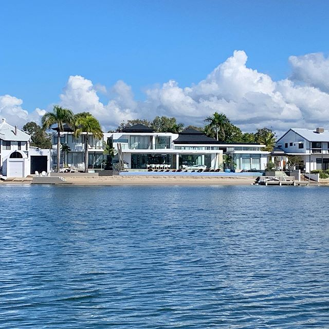 House on water? Yes please...these houses are going in my mega vision.  Noosa house dreams!  #wealth #dreamshouse #goalsetting