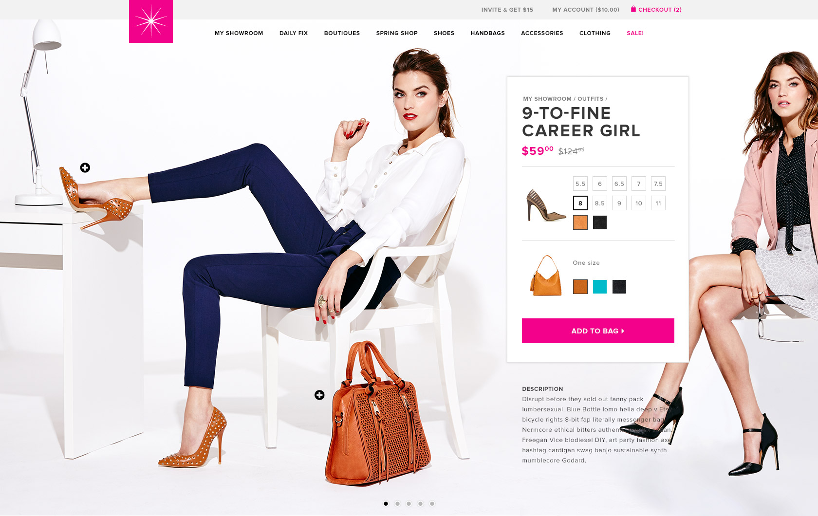 ShoeDazzle, product detail page