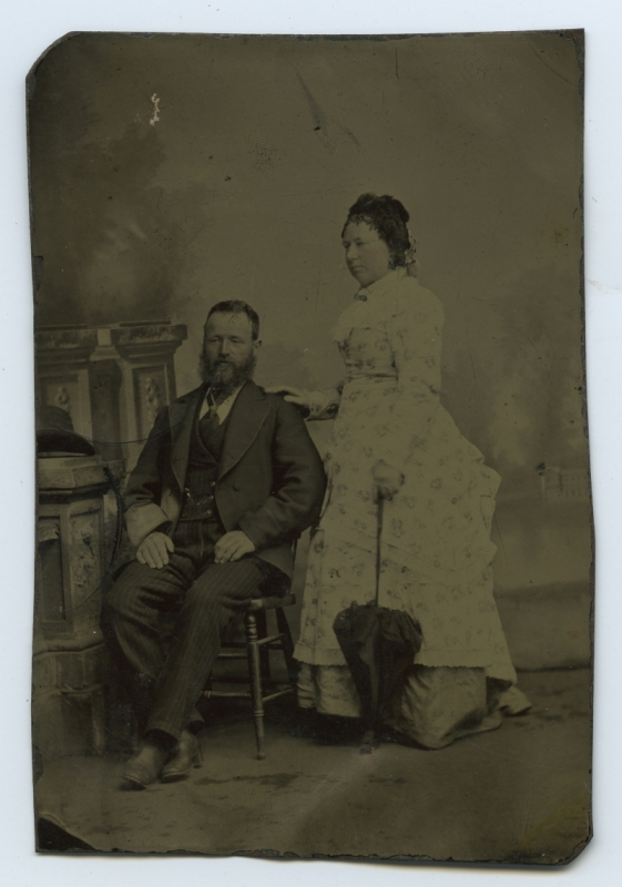 Antique Photograph - Old Tintype An early Australian colonial photograph