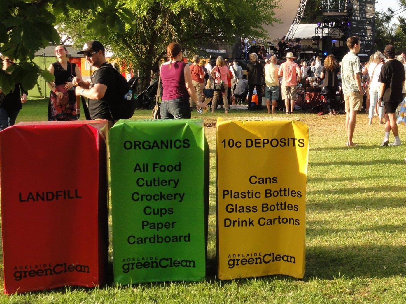 Handpicked Festival Bins Reduce Waste