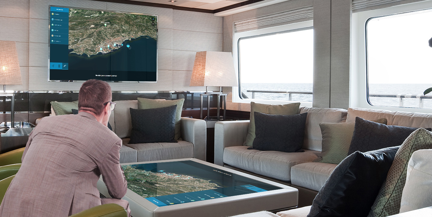 Touch Coffee Table with realtime Yacht information