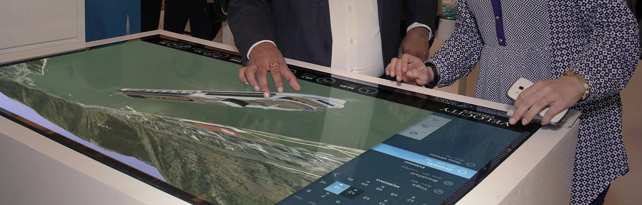 Touchscreen with Cruise information
