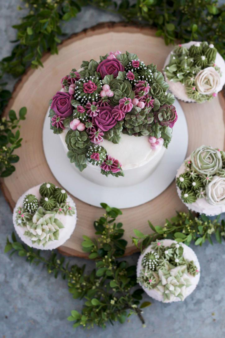 Succulent Cakes Rose Vanilla