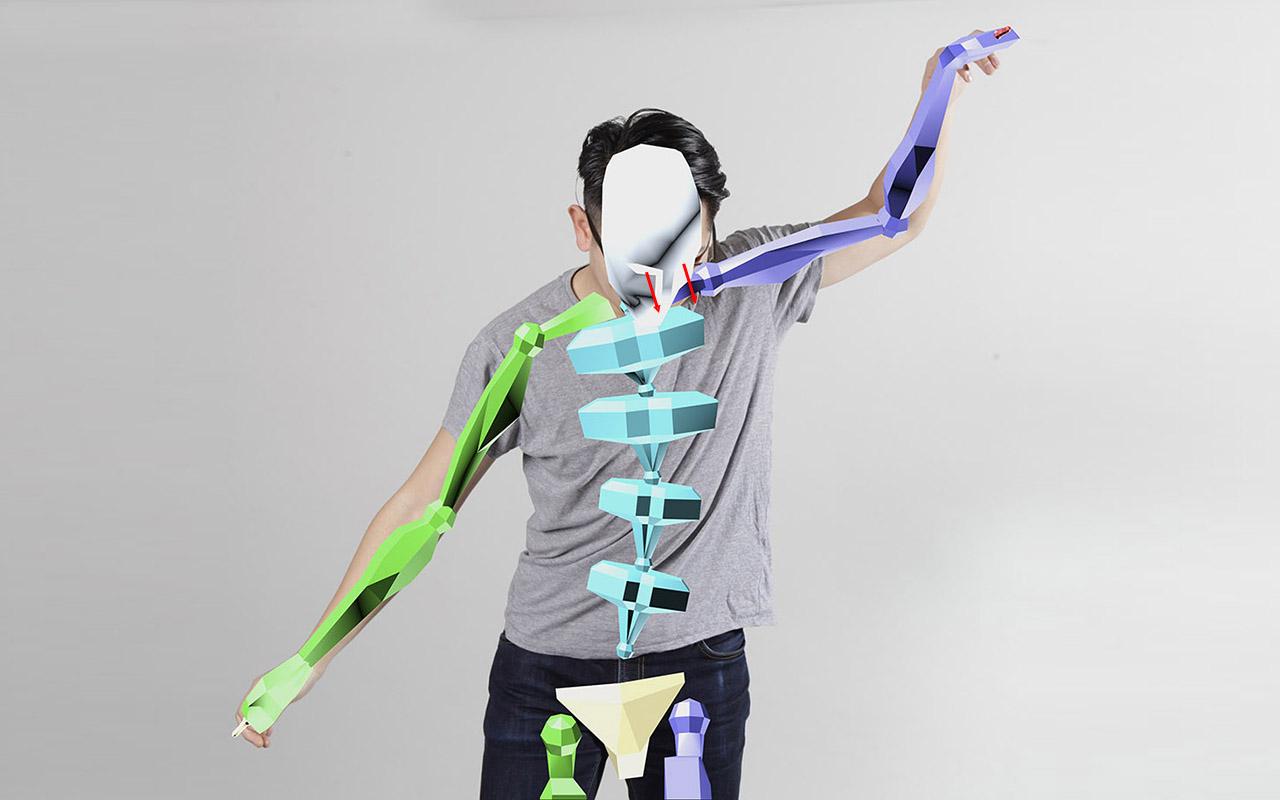 Exemplarisches Anwendungsvideo zur Ergonomie-Optimierung durch Körper-Posenerkennung in Zusammenarbeit von Mensch und Maschine:  YouTube-Link