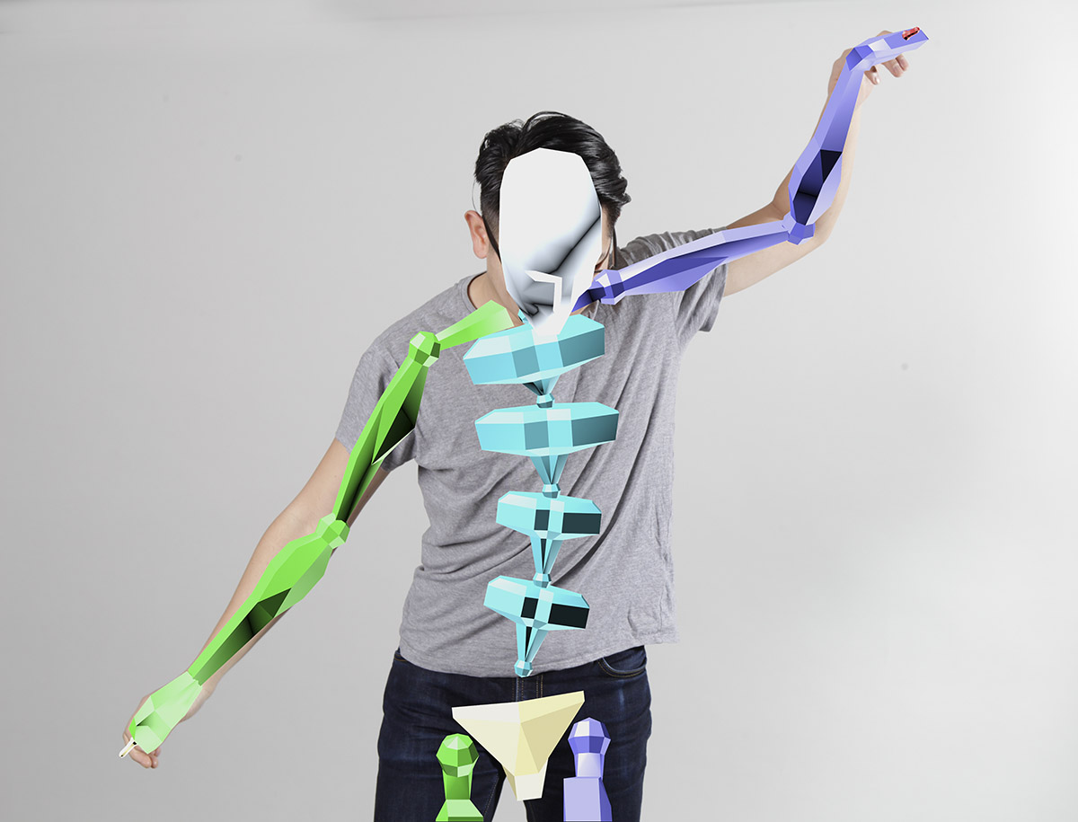 Pose estimation identifies the location and orientation of the body's joints and bones.