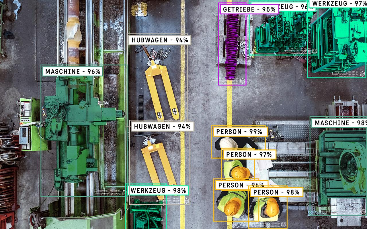 Objekterkennung und Asseterkennung, sowie Segmentierung im industriellen Produktionsumfeld