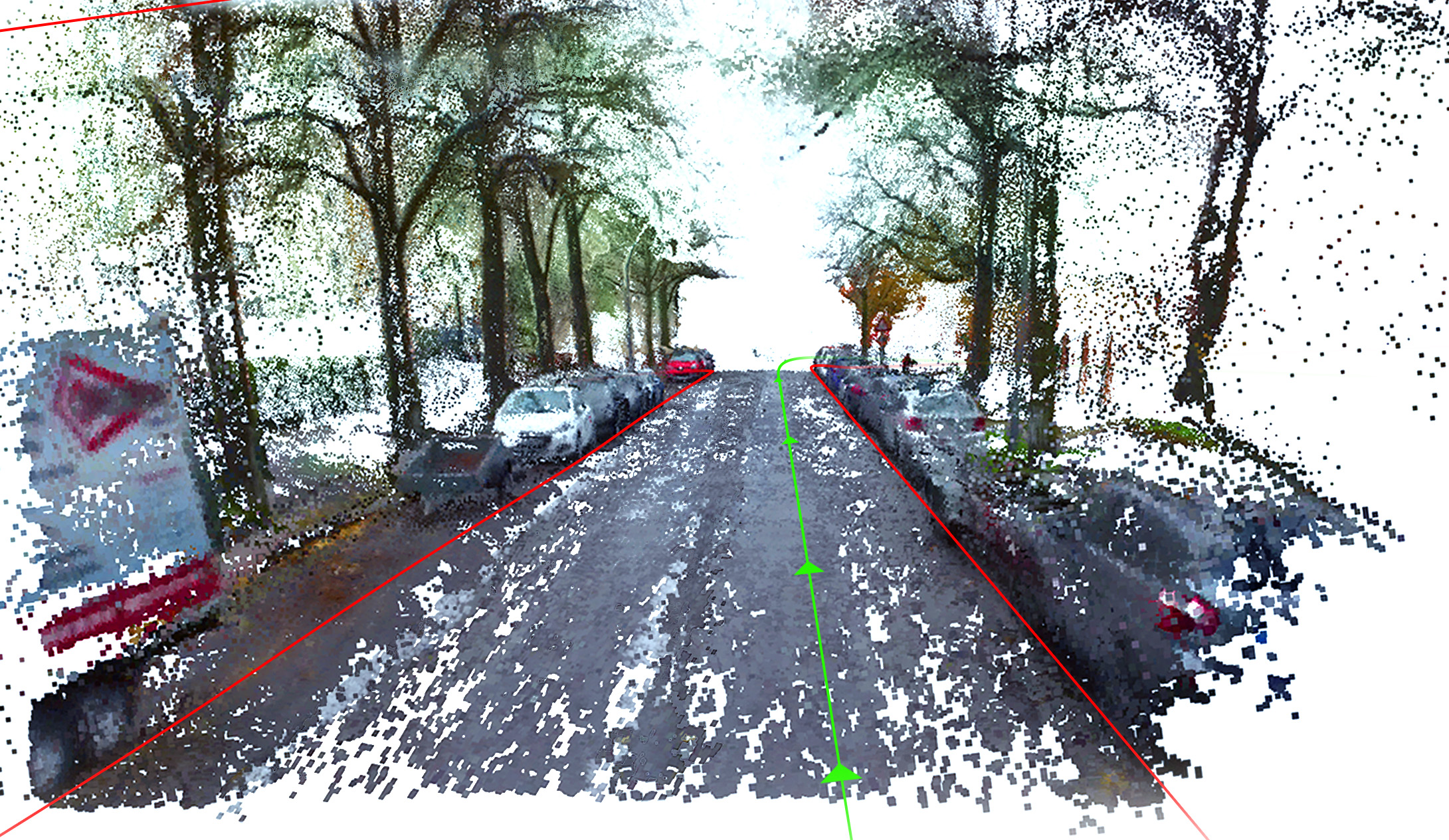 Combining SLAM and dense 3D Reconstruction enables the generation of high definition 3D maps from moving cameras mounted on a vehicle.