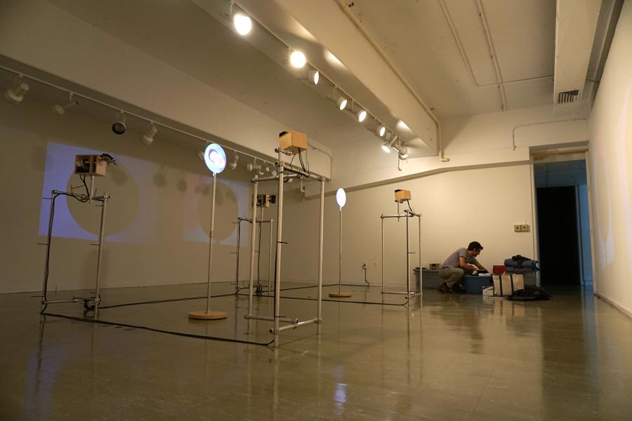 Herter Gallery installation in progress