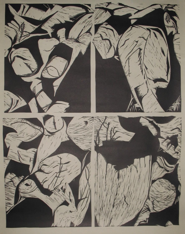 Katherine Gorge - lino cut 1984