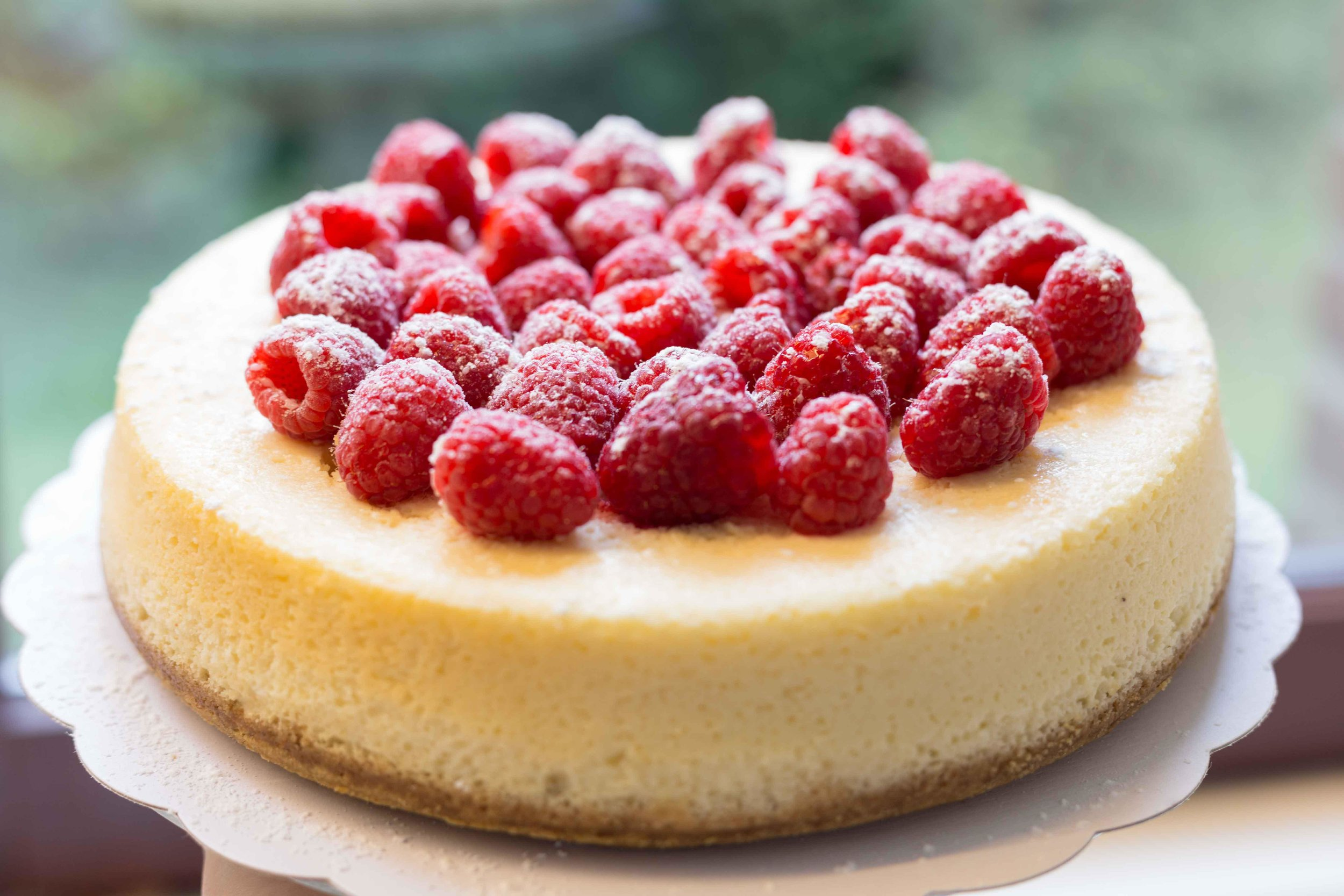 Baked Lemon and Raspberry Cheese Cake
