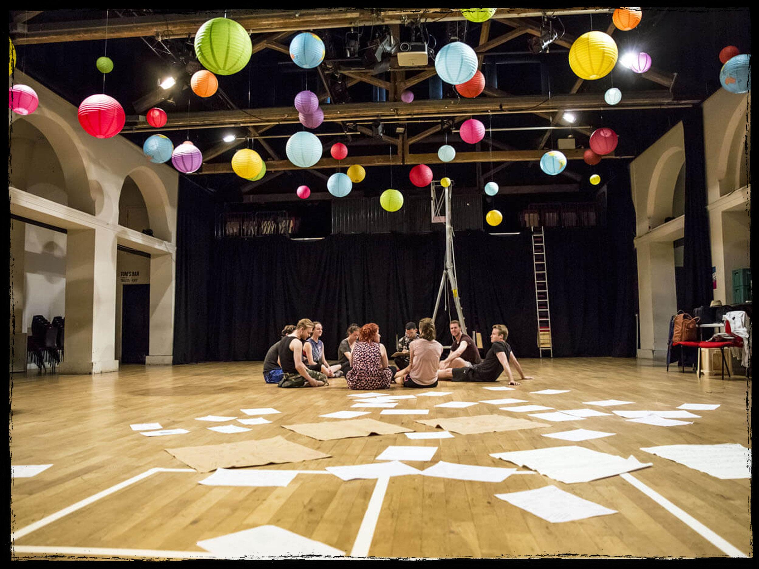 New Mutiny Theatre Company in rehearsals.