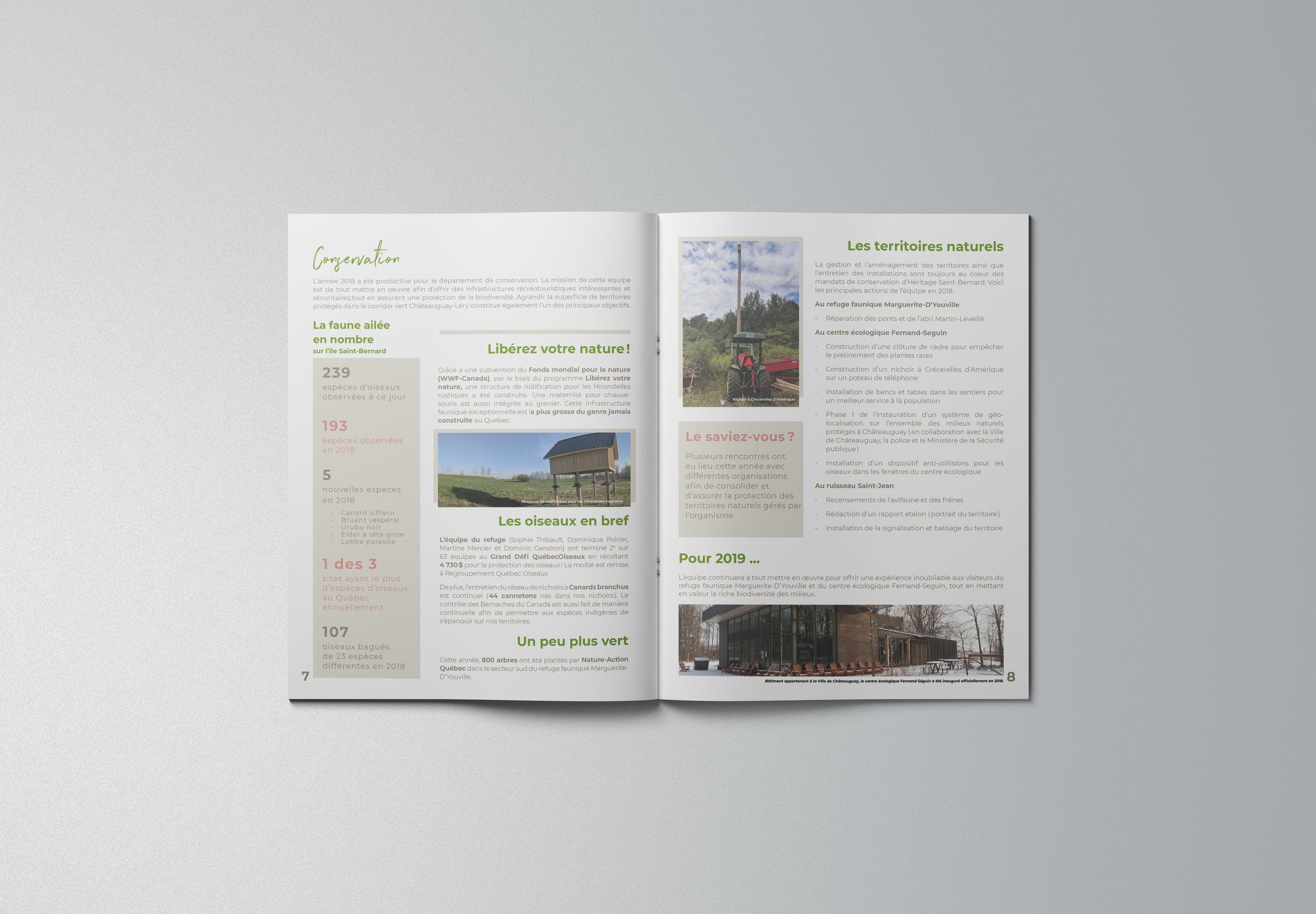 Rapport annuel 2018, Héritage Saint-Bernard