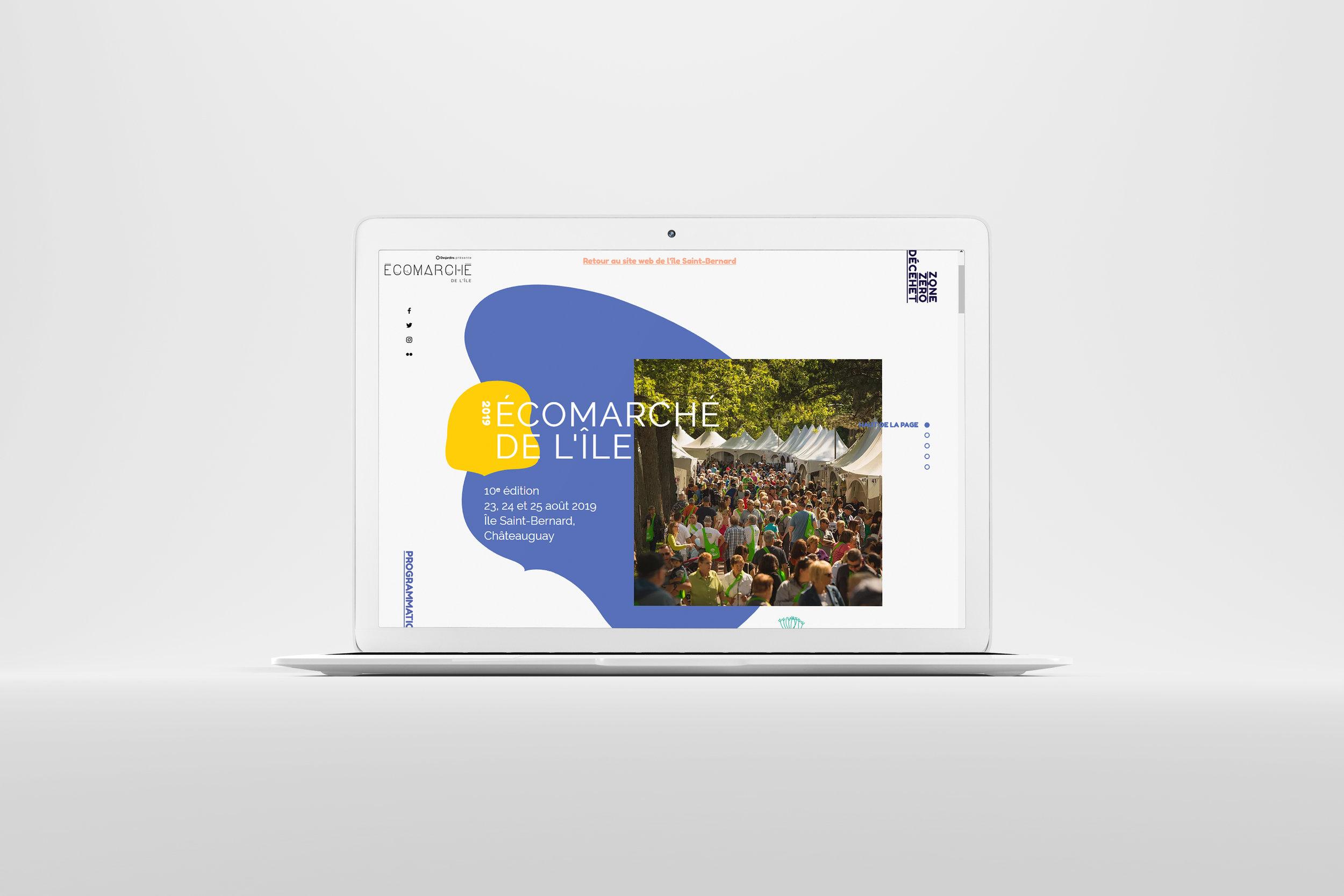 Site web, Écomarché de l'île
