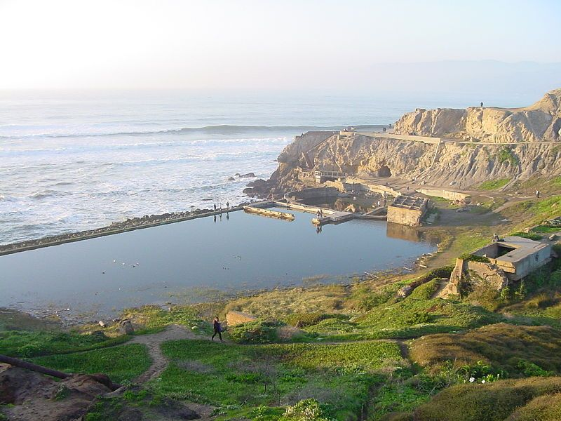 The ruins of the Sutro Baths, Lands End, San Francisco