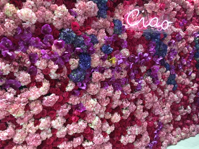 Flower Wall & Neon Sign