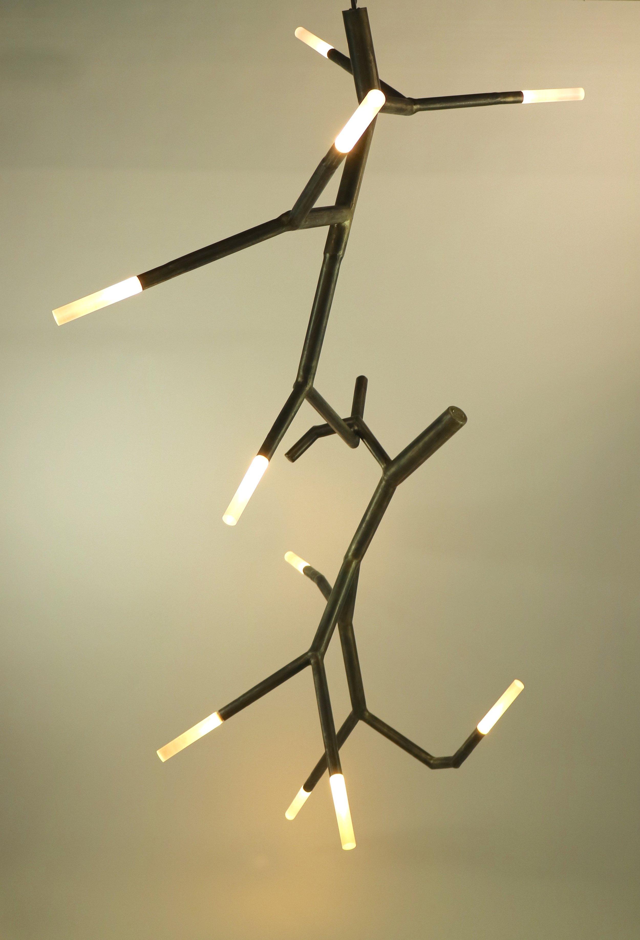 newGROWTH2 linked branch chandelier