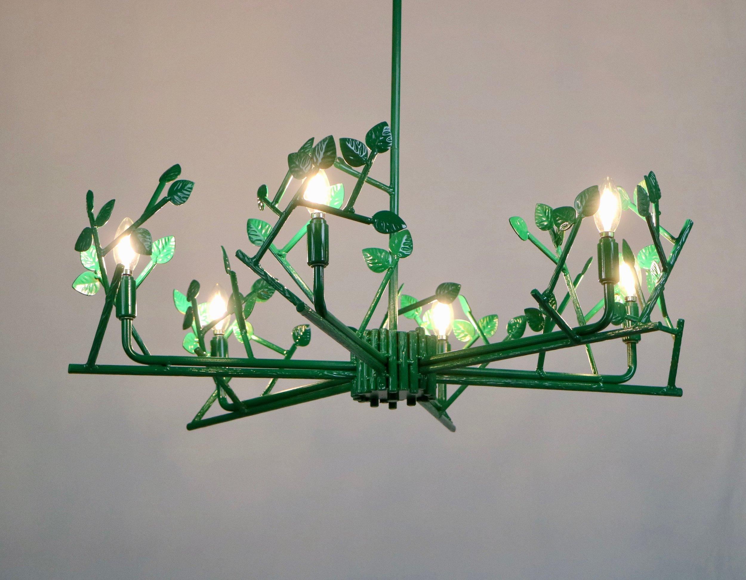 Twiggy Chandelier green