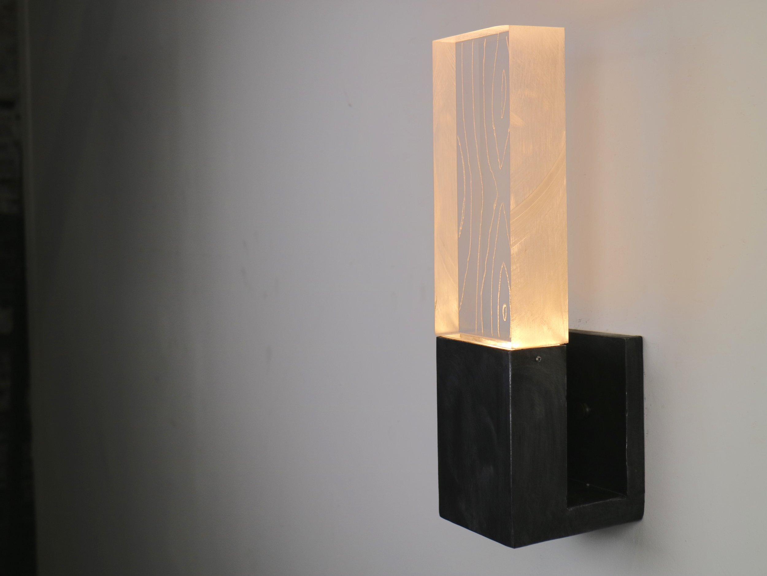 LED Block Sconce