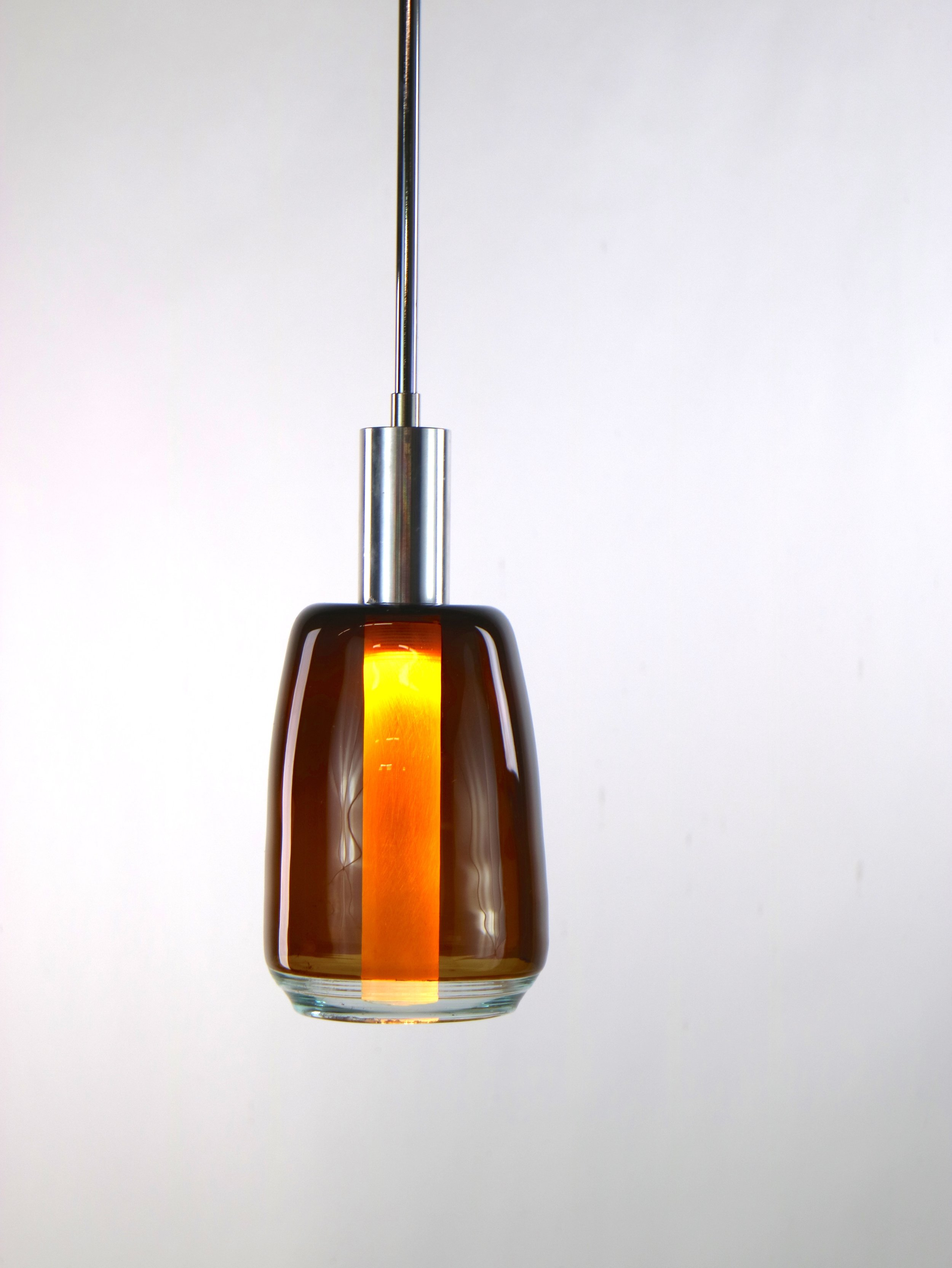 Brown and Clear Incalmo Pendant