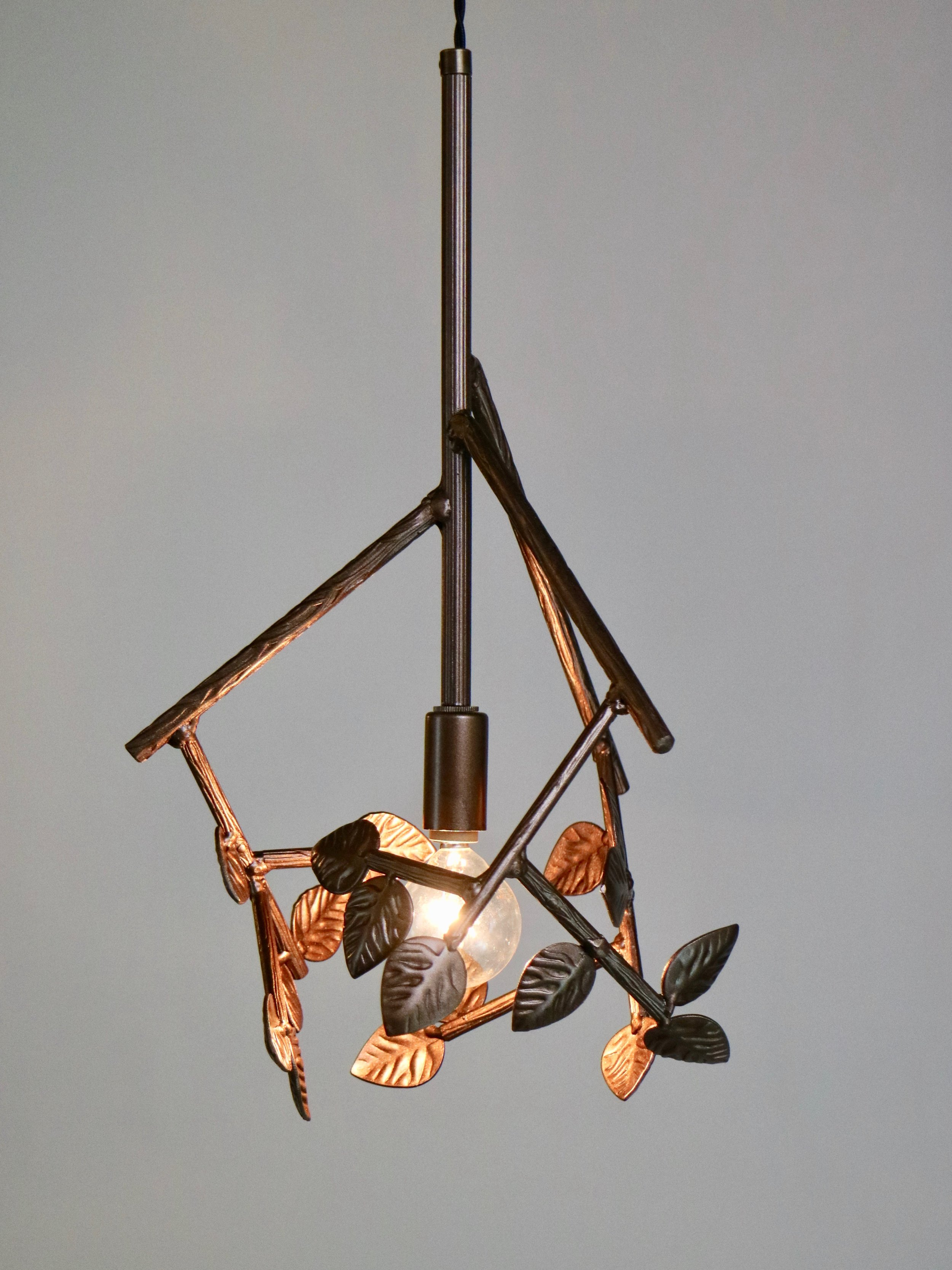 Twiggy Pendant -- copper