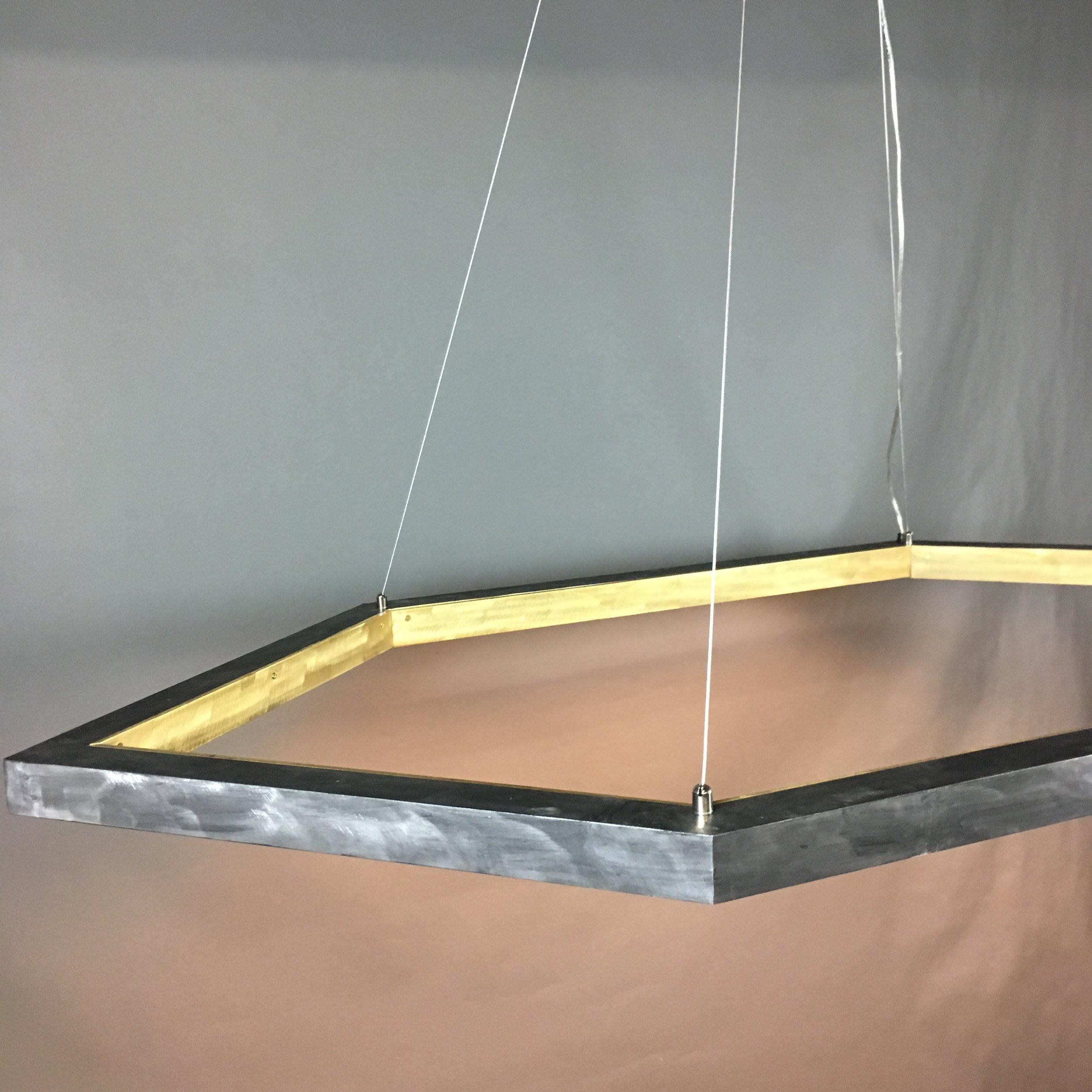 Brass + Aluminum Hex Lamp