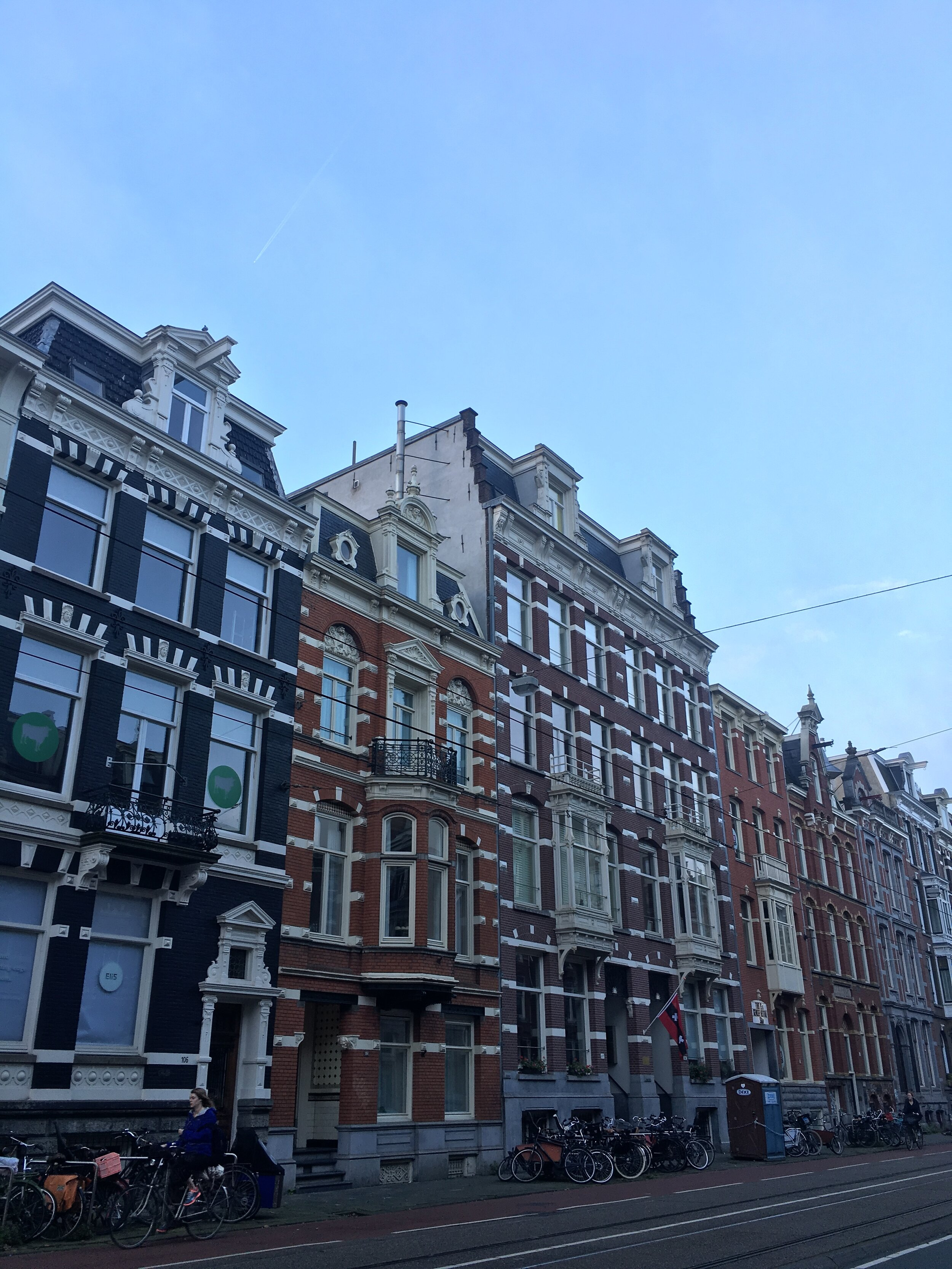 Amsterdam has some of the prettiest buildings