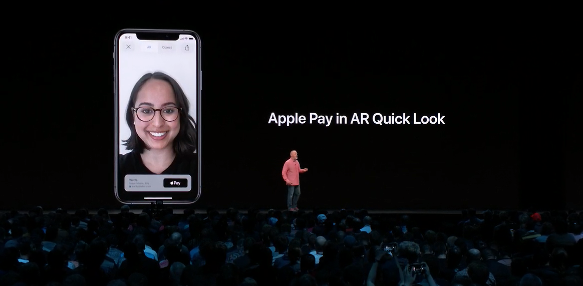 Geoff Stahl on stage at WWDC 2019