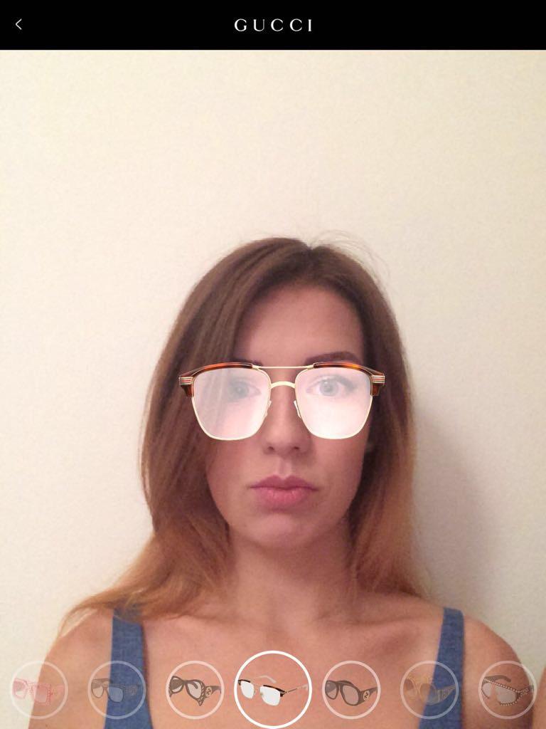 Gucci app: Eyewear Try On (AR powered by MoodMe)