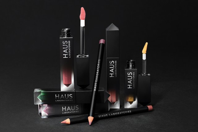 Haus Laboratories lip glosses, liners, and liquid-shimmer powders