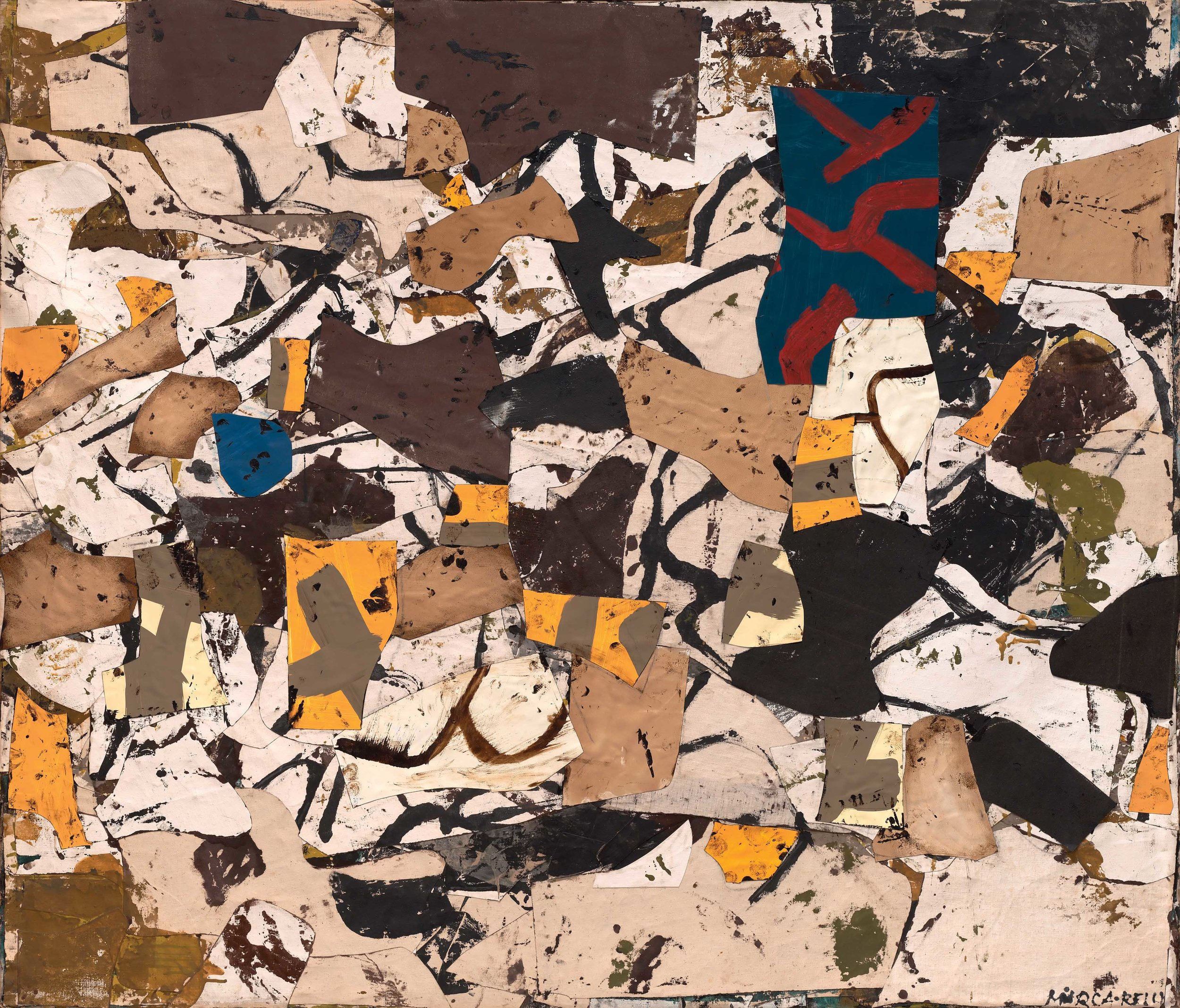 Conrad Marca-Relli – L-R-8-57, 55.5 x 64.75 inches, 1957, painted collage