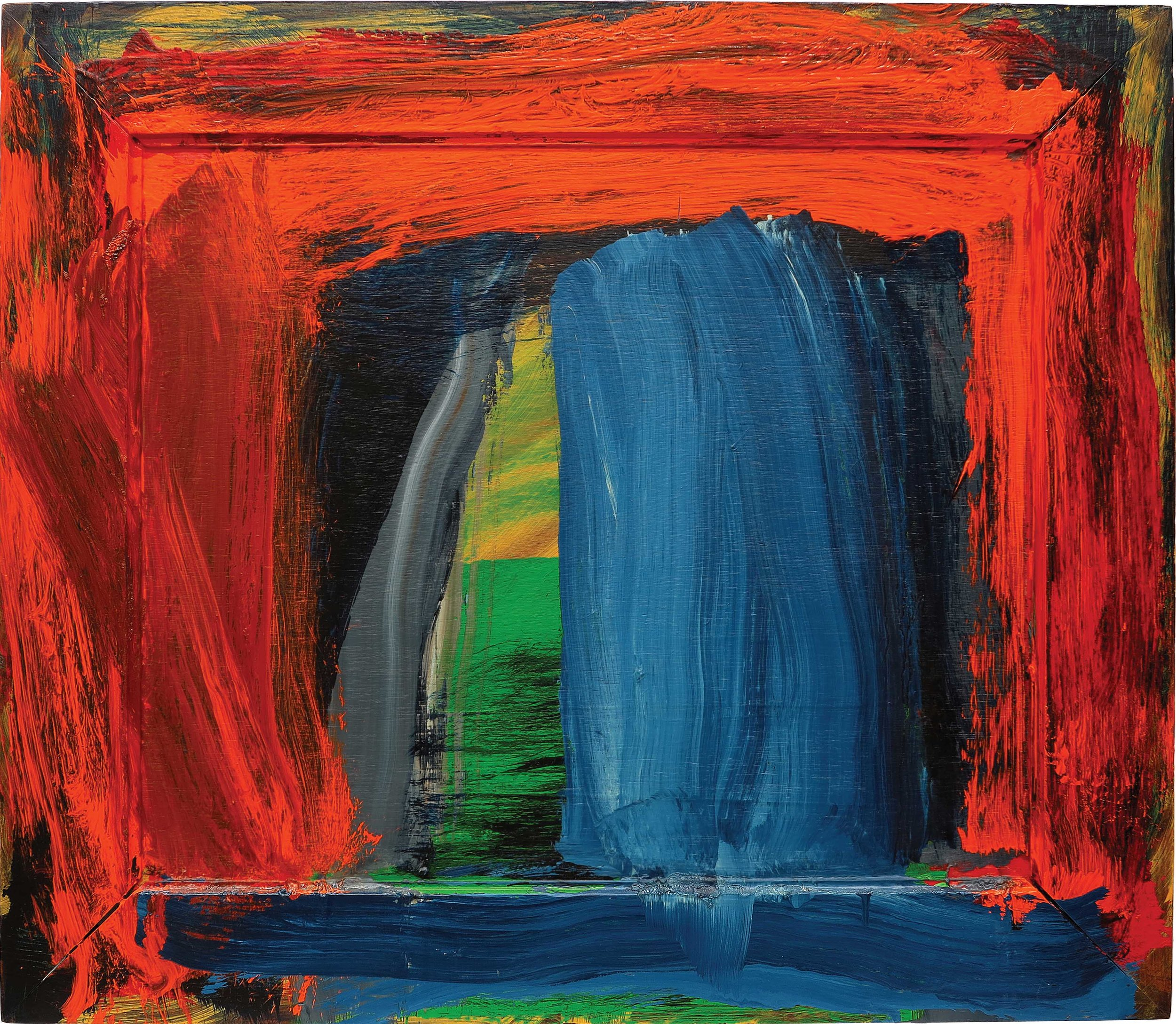 Howard Hodgkin – Navy Blue, 27 x 31 inches, 2002-04, oil on wood