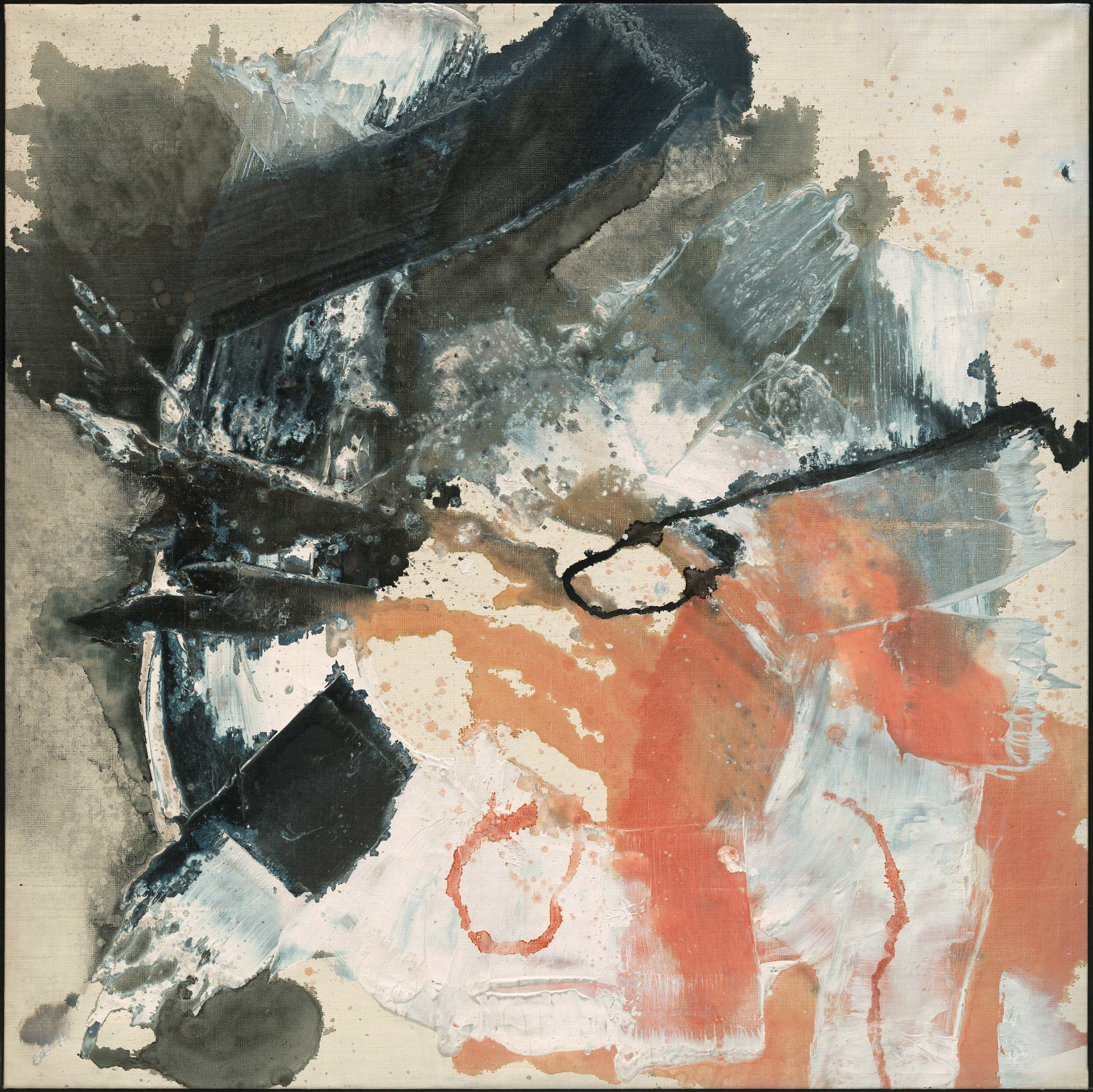 Masatoyo Kishi – Opus No. 60-145 (detail), 48 x 48 in, 1960, oil on canvas