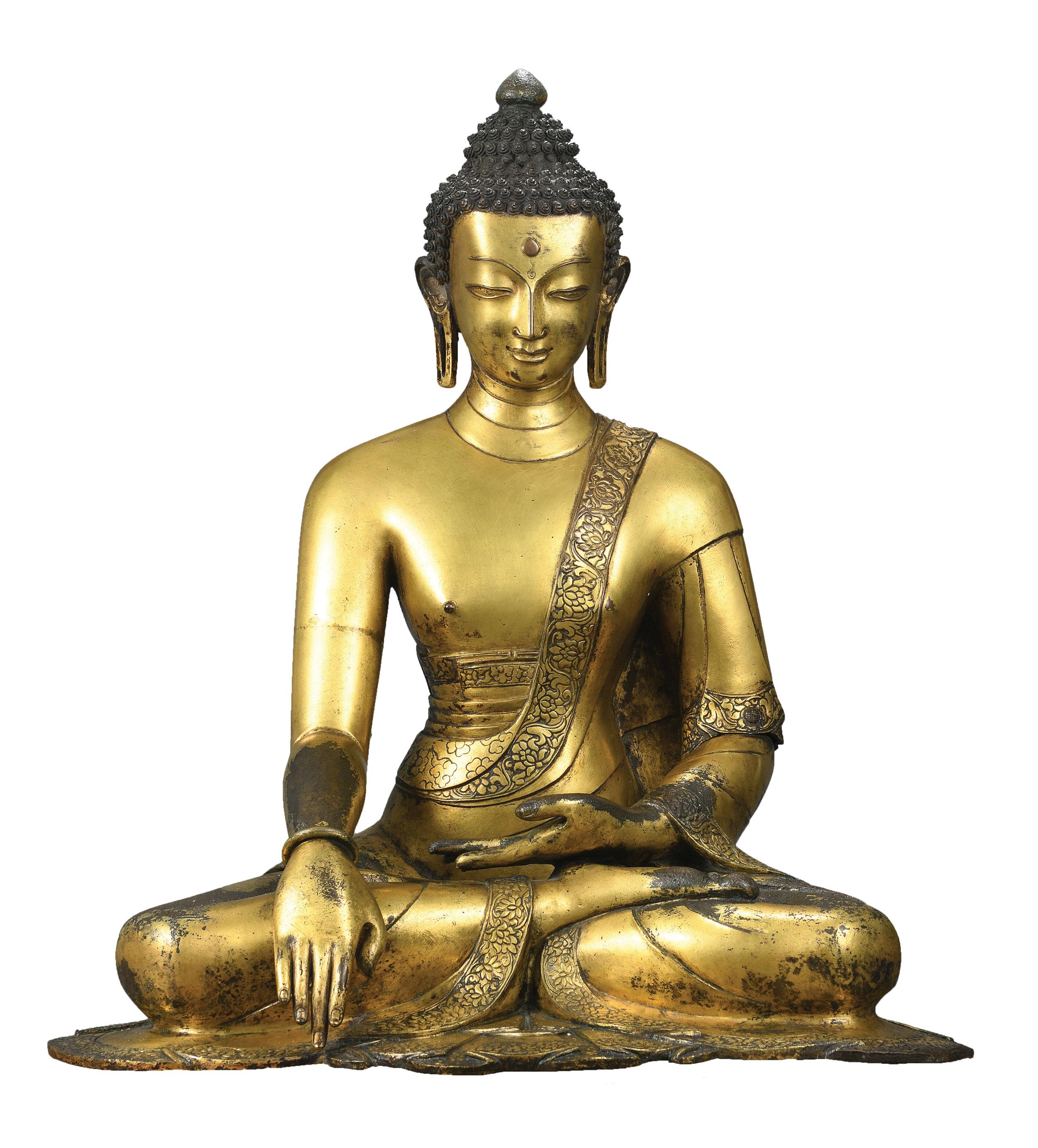 Buddha Shakyamuni (detail), Nepal, 16-17th Century,