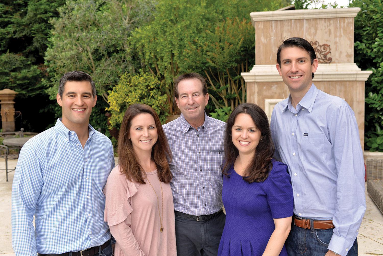 The Campi Group. From left:  Dustin Owen, Jaclyn Campi Owen, Gary Campi, Lauren Campi Legge, Jordan Legge.