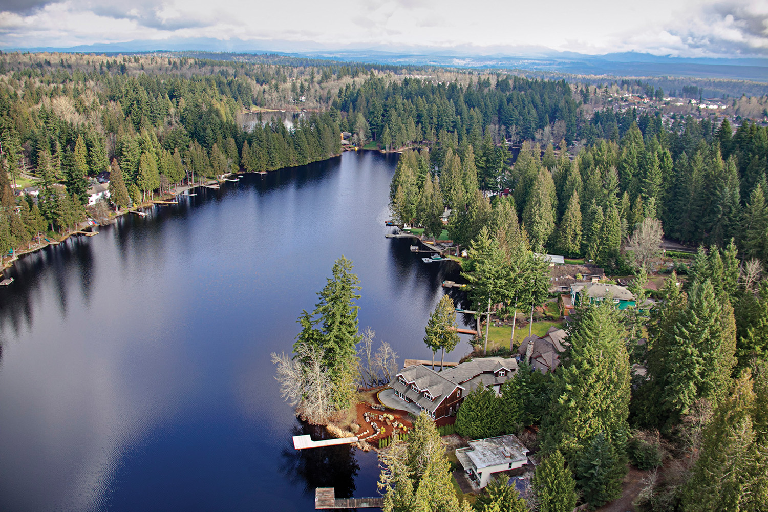 Waterfront Aerial - 2151 E Beaver Lake Drive SE, Sammamish listed with Jay Kipp for $1,875,000