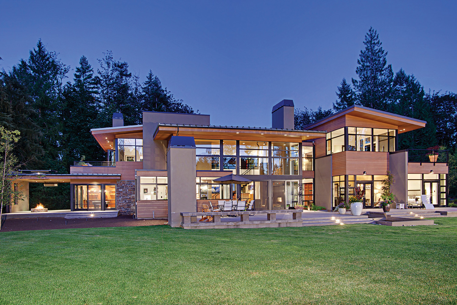 Contemporary Dusk - 2058 250th Place NE, Sammamish, listed with Jay Kipp for $2,300,000