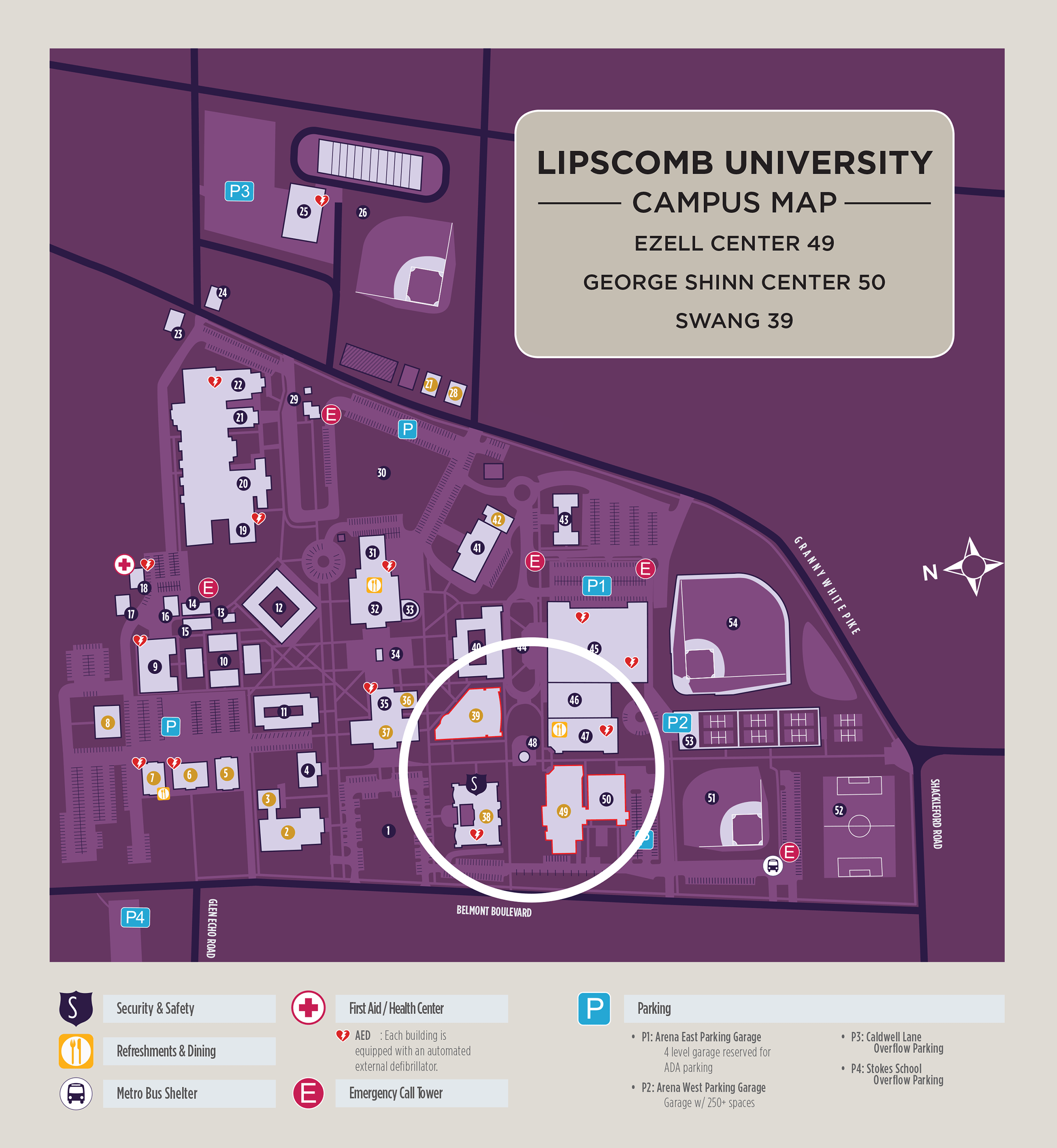 lipscomb university campus map Location Writerfest Nashville lipscomb university campus map
