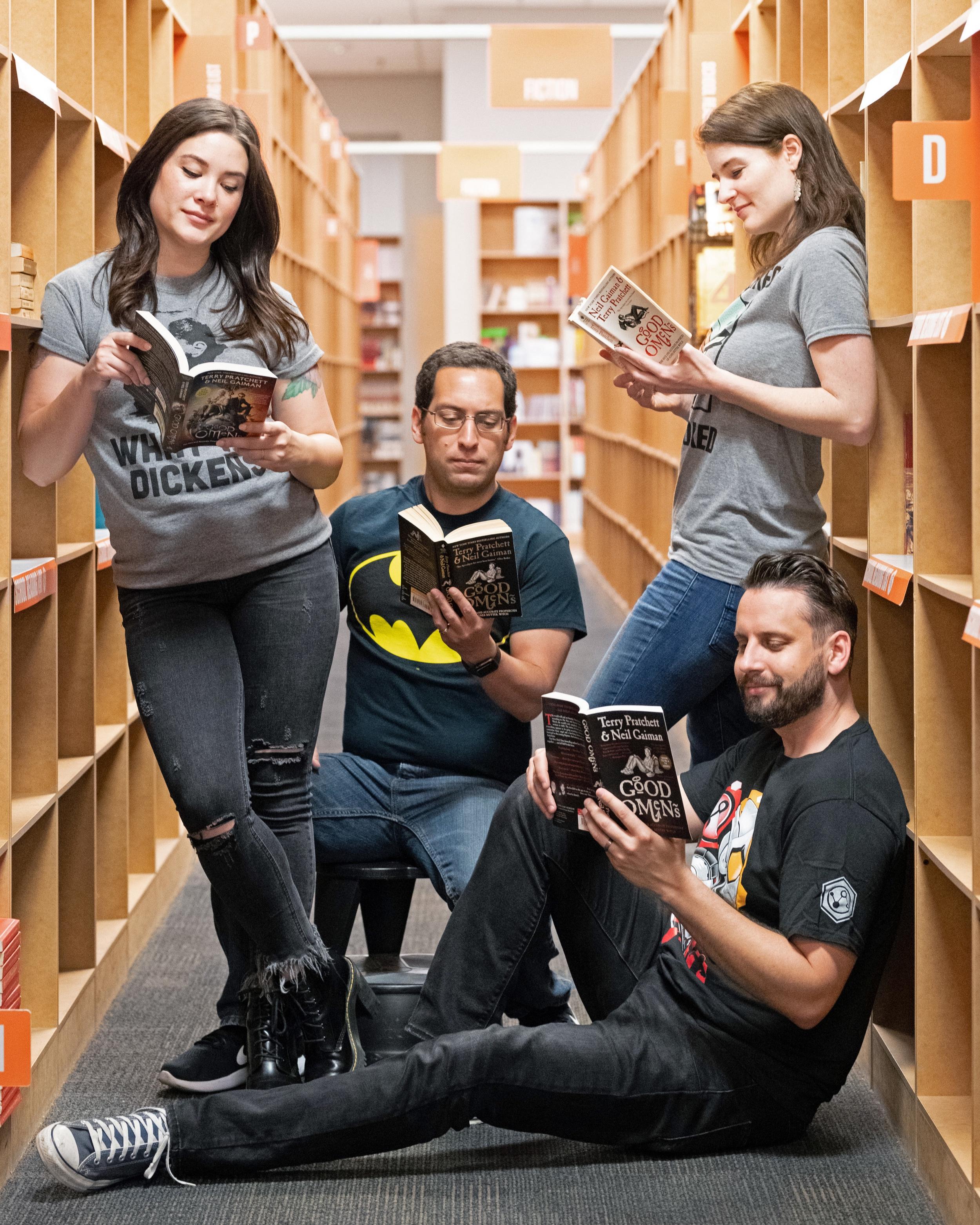 The Geekward! Team: (L-R) Talia, Adam, Christy & Lucas