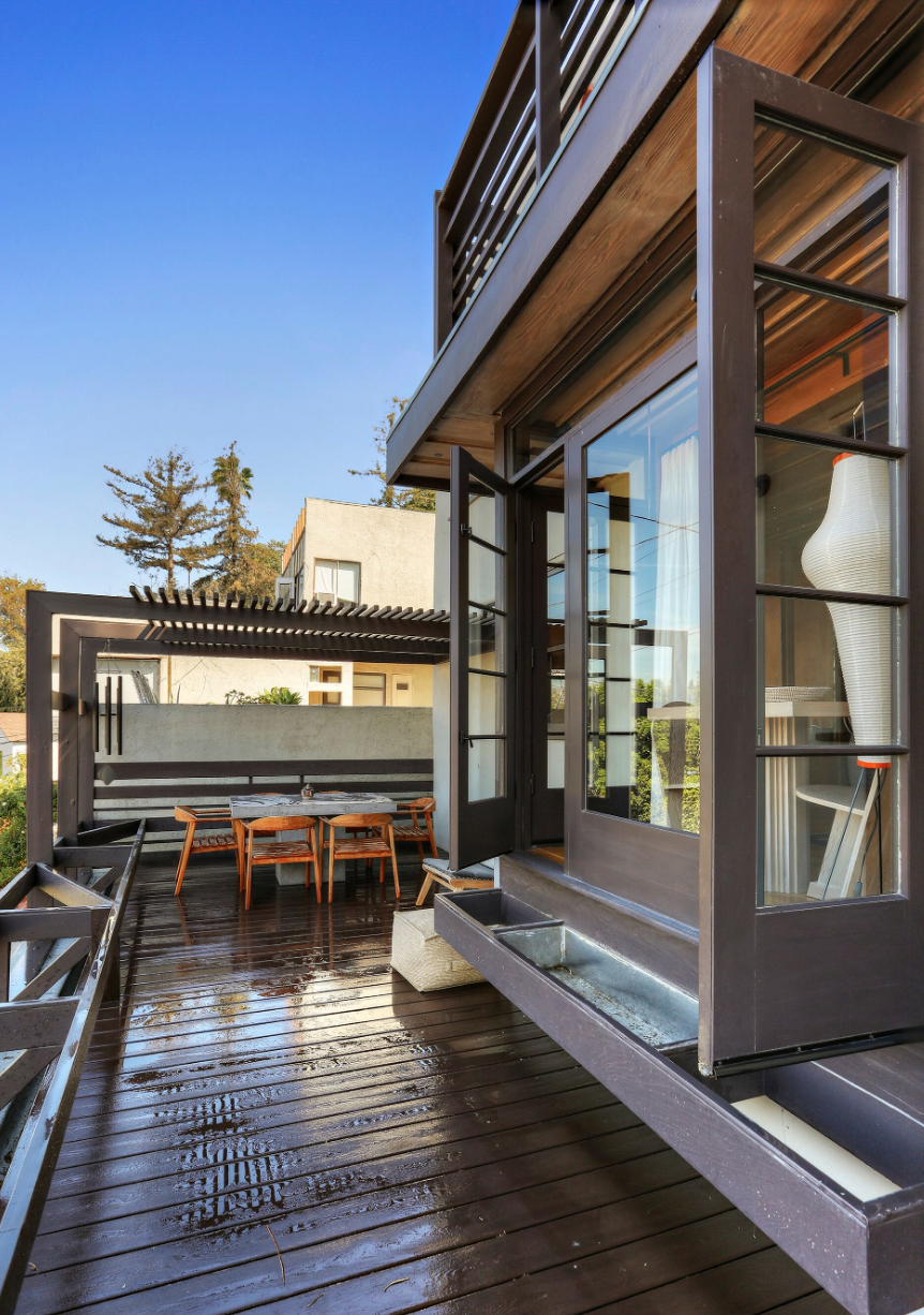 The deck of a studio apartment at Manola Court.