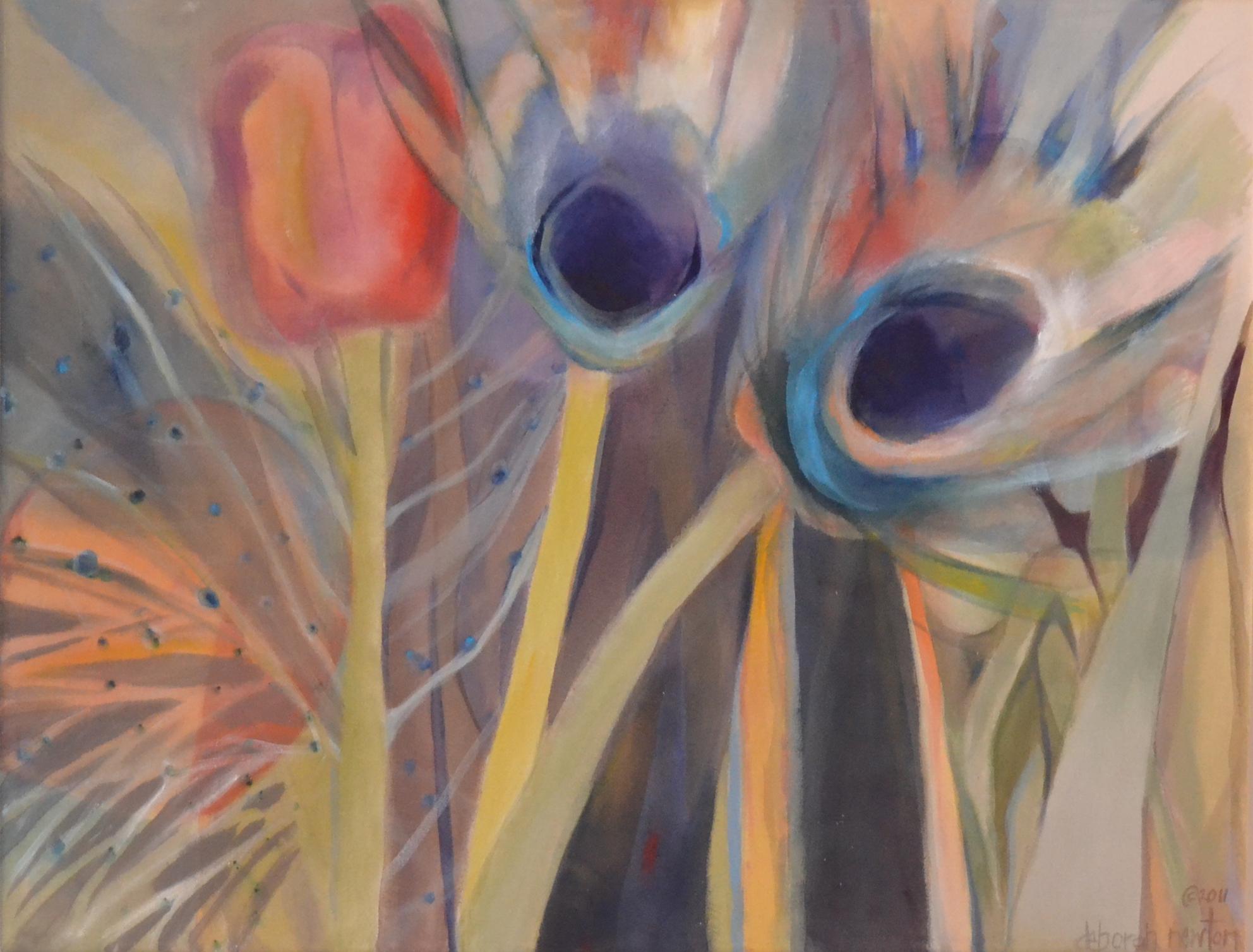 Peacock Tulip     48w x 36h