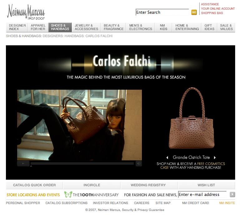 Click-to-purchase interactive video for Carlos Falchi