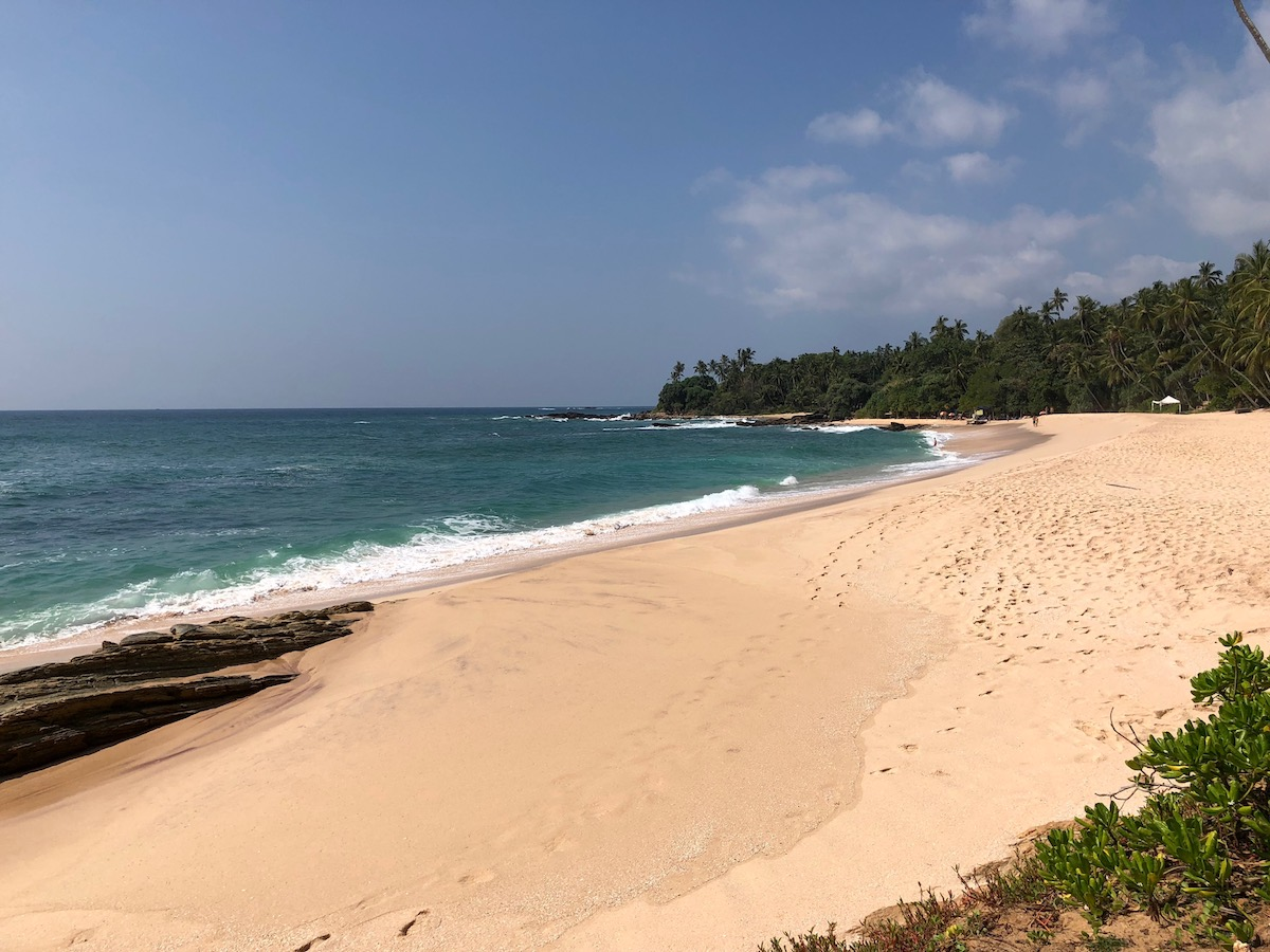 Private beach on the resort