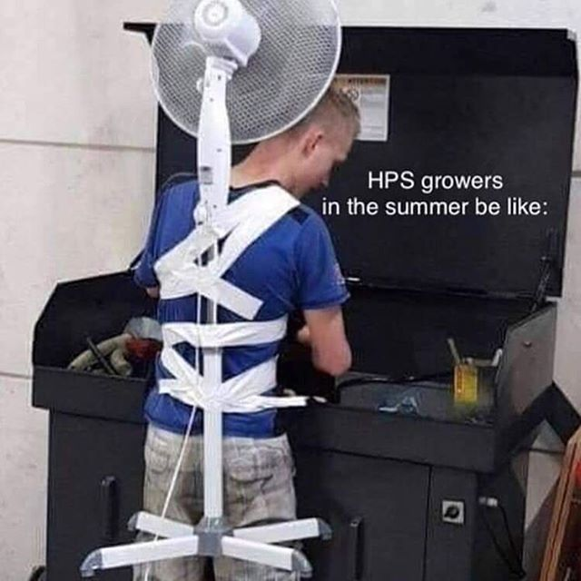Our led's run significantly cooler than hps, just saying...