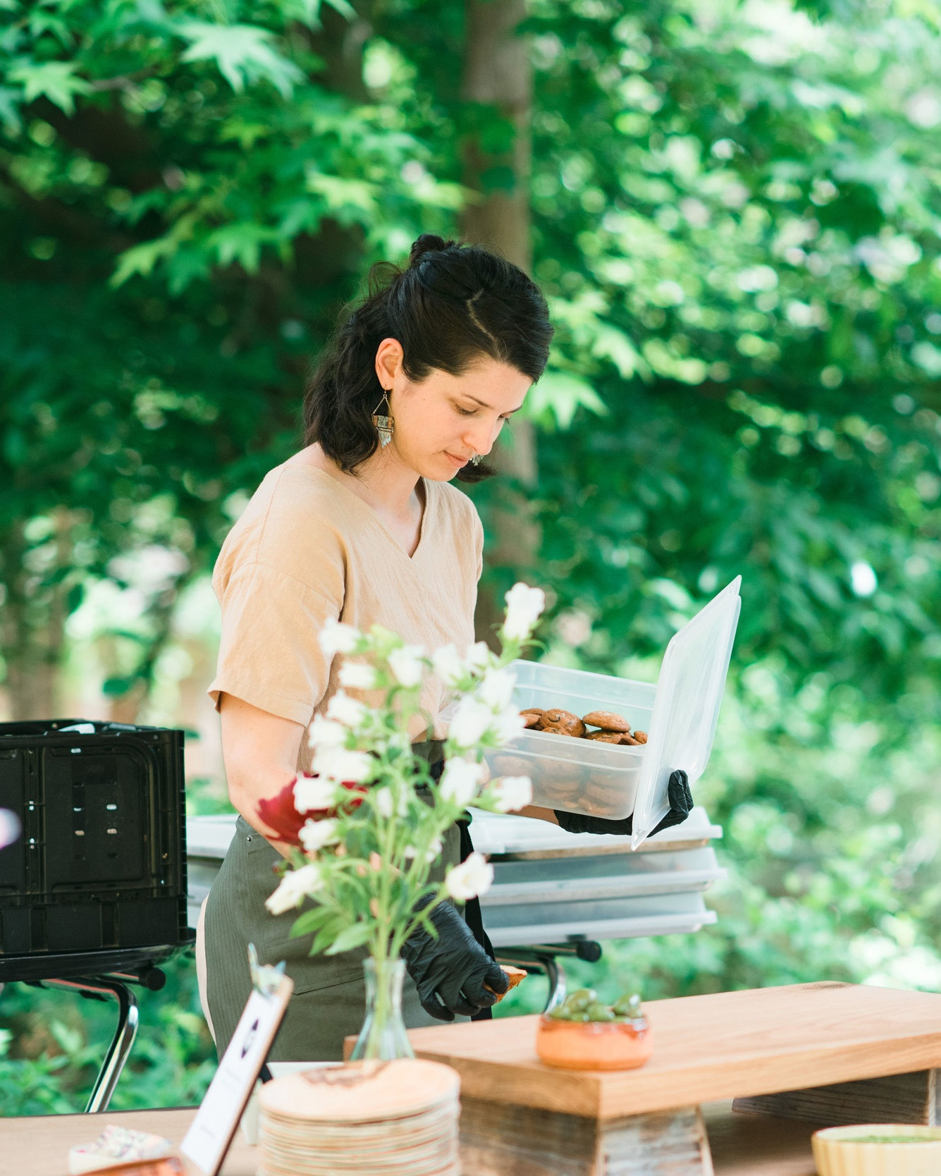 Paula Seville - BusinessAfter stints in management consulting and a software startup, Paula ditched the 9 to 5 grind to bring Moveable Feast ATL to the world! When she's not organizing events, interfacing with clients or creating marketing materials, you can find her in the kitchen baking up pastries and sweets for our menus.